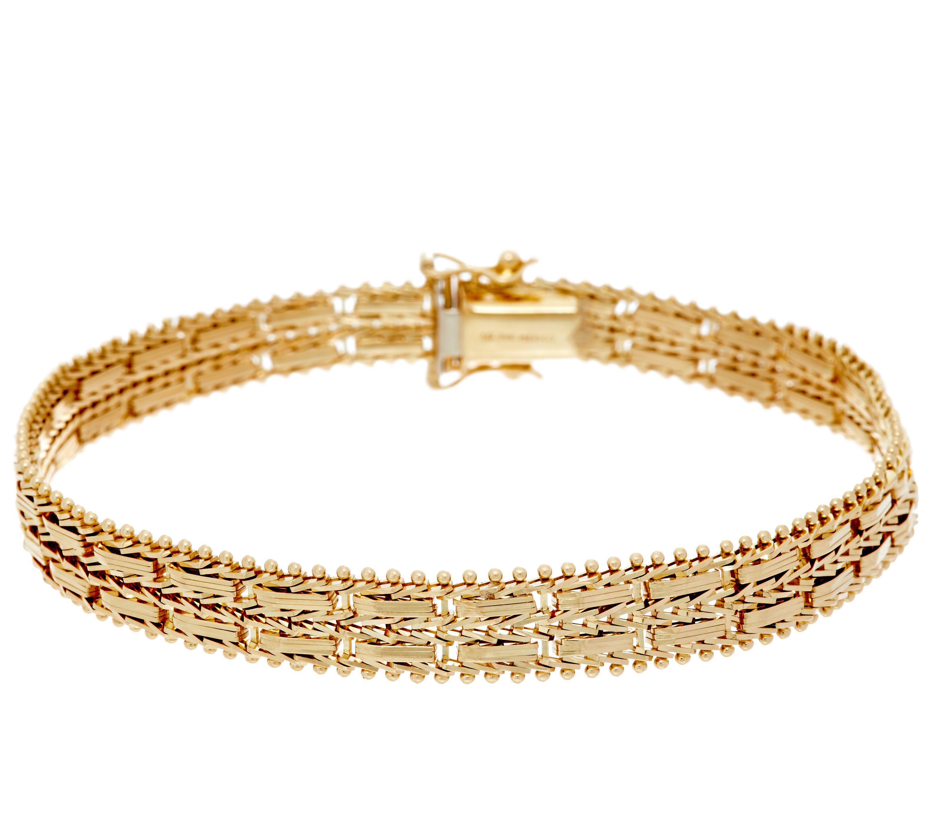 Imperial Gold 8 Mirror Bar Bracelet