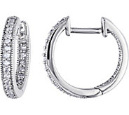 Diamond Hoop Earrings, 14K White Gold, 1/5 cttw, by Affinity - J376485