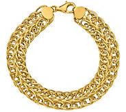 Italian Gold 14K Oval Multi-Link Bracelet, 9.6g - J384885