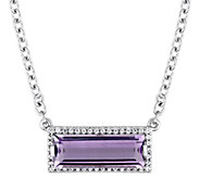 Sterling Silver 2.35 cttw Amethyst & White Sapphire Necklace - J385285
