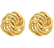 Italian Gold Swirl Knot Earrings, 14K - J385585