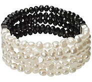 Linea by Louis DellOlio Crystal & Simulated Pearl Bracelet - J387785