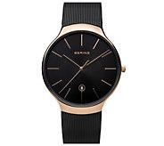 Bering Unisex Rosetone Milanese Bracelet Watch - J387985