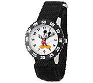 Disney Mickey Mouse Boys Black Time Teacher Watch - J388185