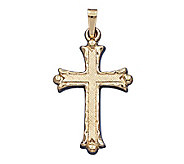 14K Yellow Gold Florentine Cross Pendant - J108186