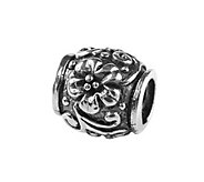 Prerogatives Sterling Floral and Scroll Bead - J108586