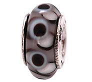 Prerogatives Sterling Black Glass Bead - J108886