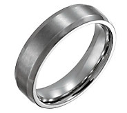 Steel By Design Mens 6mm Beveled Edge BrushedPolished Ring - J109486