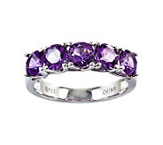 Sterling 2.20 cttw Amethyst 5-Stone Ring - J311186