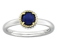 Simply Stacks Sterling Two-Tone Cabochon Ring - J313186