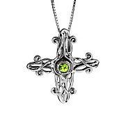 Hagit Gorali Sterling Gemstone Cross Pendant - J314286