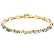 Santa Maria Aquamarine 7-1/4 Tennis Bracelet, 14K 5.50 cttw - J335686