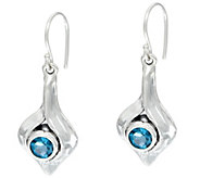 Hagit Sterling Silver Gemstone Dangle Earrings - J346586