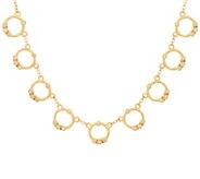 Judith Ripka 14K Gold Multi- Circle 1/5 cttw Diamond Necklace - J347886