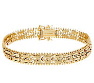 Imperial Gold 6-3/4 Mirror Bar Bracelet, 14K, 16.5g - J348386