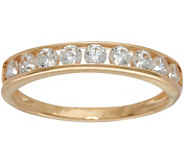 Diamonique Channel Set Band Ring, 14K Gold - J349686