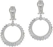 Judith Ripka Sterling Diamonique Baguette Earrings - J352586