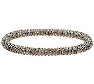 Italian Silver Diamond Cut Wire Stretch Bracelet - J352986