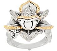 Barbara Bixby Sterling Silver & 18K Gemstone Lotus Ring - J354286
