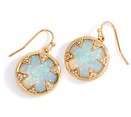 Melinda Maria Single Drop Simulated Fire Opal Earrings- Tessa - J355686