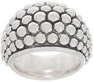 Michael Dawkins Sterling Silver Granulation Drop Tapered Ring - J359086