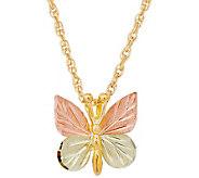 Black Hills Butterfly Pendant w/ Chain 10K/12K - J376886