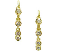 Judith Ripka Sterling/14K Clad 1.15 cttw Diamonique Earrings - J377386