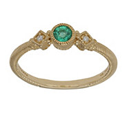 Judith Ripka 14K Gold Zambian Emerald and Diamond Ring - J382386