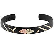 Black Hills Midnight Cuff Bracelet, 10K/12K Gold - J392486