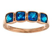 Cushion Cut Exotic Gemstone Stack Ring 14K Gold - J283887