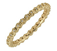 Simply Stacks Sterling Diamonds 18K Gold-Plated2.25mm Ring - J299287