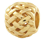 Prerogatives Gold-Plated Sterling Basket WeaveBali Bead - J302687