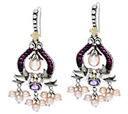 Barbara Bixby Sterling /18K Gemstone and PearlEarrings - J339287