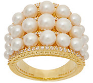 Judith Ripka 14K Clad Cultured Pearl & Diamonique Ring - J352287