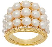 Judith Ripka 14K Clad Cultured Pearl & Diamonique Ring - J352287