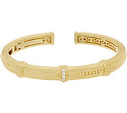Judith Ripka 14K Clad Diamonique Beaded Cuff - J352387