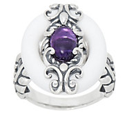Carolyn Pollack Sterling Silver Color Connections Ring - J353387