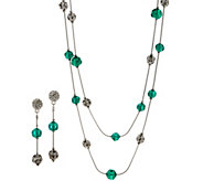 Linea by Louis DellOlio 72 Faceted and Pave Bead Chain Necklace Set - J358187