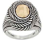 JAI Sterling Silver & 14K Gold Hammered Ring - J359587