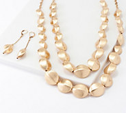 Linea by Louis DellOlio Tortue Bead Necklace & Earring Set - J361087