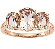 14K Rose Gold 3.15 cttw Oval Morganite Ring - J374987