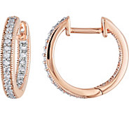 Diamond Hoop Earrings, 14K Rose Gold, 1/5 cttw,by Affinity - J376487