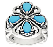 Carolyn Pollack Sleeping Beauty Turquoise Sterling Ring - J384987