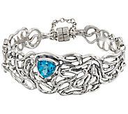 Hagit Sterling 3.85 cttw Blue Topaz Polished Swirl Bracelet - J386687