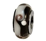 Prerogatives Sterling Black and Gray Glass Bead - J108888