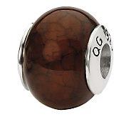 Prerogatives Sterling Brown Crackle Agate Gemstone Bead - J298188
