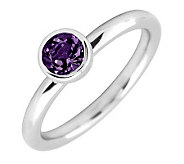 Simply Stacks Sterling 5mm Round Amethyst Solitaire Ring - J298788