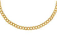 18 Polished Curb Link Necklace, 14K Gold11.90g - J308988