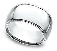 Sterling Silver 10MM Milgrain Unisex Wedding Band Ring - J309988