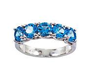 Sterling 2.95 cttw Blue Topaz 5-Stone Ring - J311188